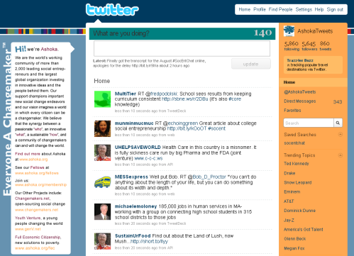 AshokaTweets homepage screenshot