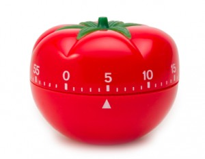 The pomodoro kitchen timer after which the technique is named.